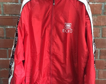 442eeef75539b Vintage Ecko Unltd Streetwear Hip Hop Windbraker Side Tape Jacket