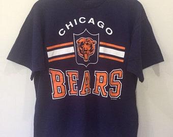 4d96f01770f Vintage 90s Chicago Bears NFL T Shirt Large Size