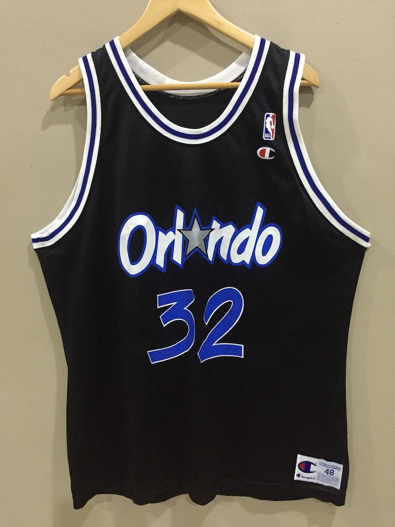 5dcf9ddb3 Vintage Orlando Magic Basketball NBA 32 O neal Jersey