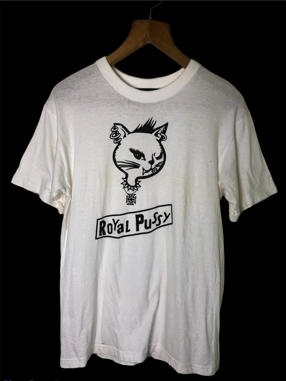 Rare Royal Pussy Punk Anarchy Punk Rock T Shirt Me