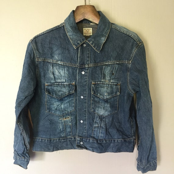 Vintage Levi's Shorthorn Denim Jacket Snap Button