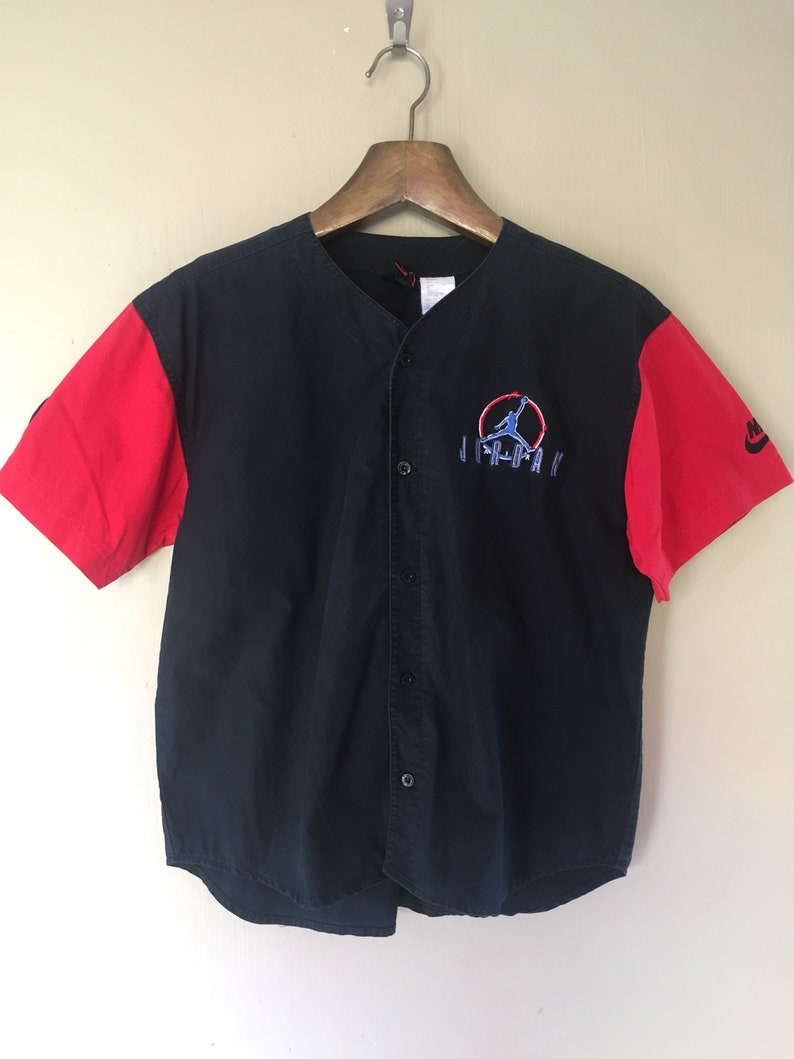 11fccbc957969b Vintage Rare Nike Air Michael Jordan Baseball Button Up Jersey | Etsy