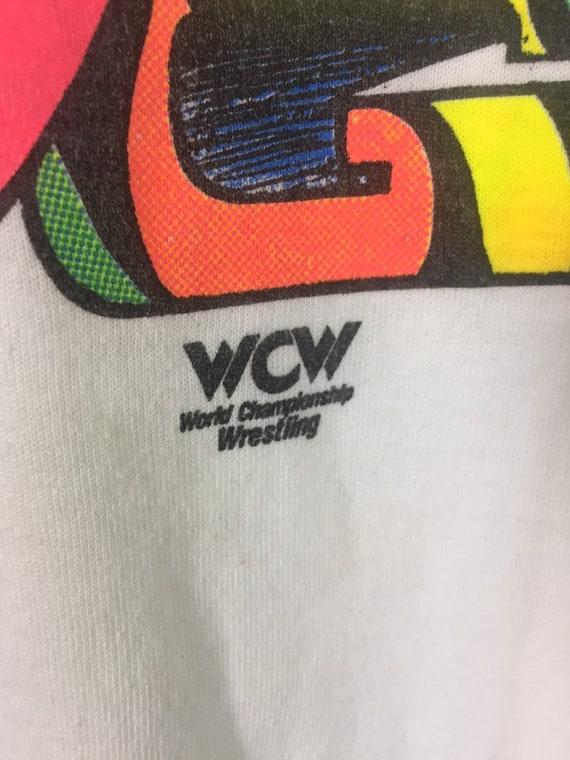 Vintage 90s Sting Stinger Wcw Wwf T Shirt Large S… - image 7