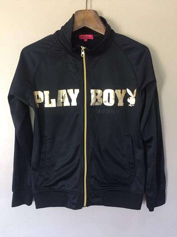 Seltene Playboy Bunny Pullover Reißverschluss Jacke Damen Medium Größe