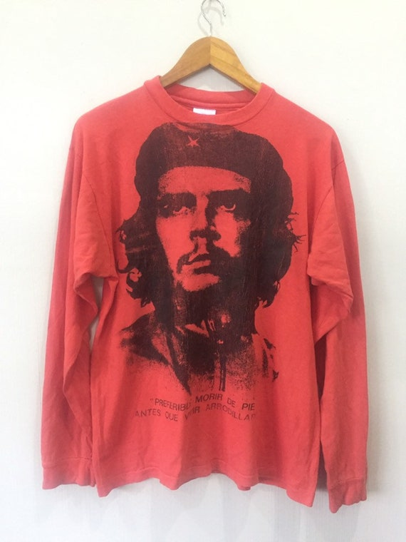 Vintage Che Guevera Big Logo Long Sleeves T Shirt
