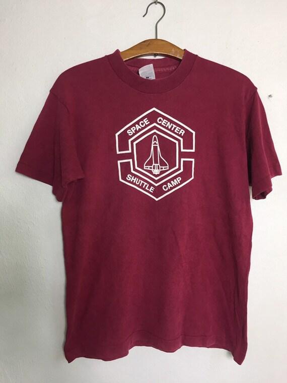 Vintage 90s Space Centre Shuttle Camp Nasa T Shirt