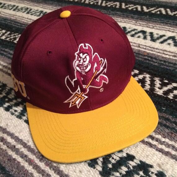 Vintage 90s Deadstock Arizona State Sun Devils Snapback Hat by  d10bda5e3d9e