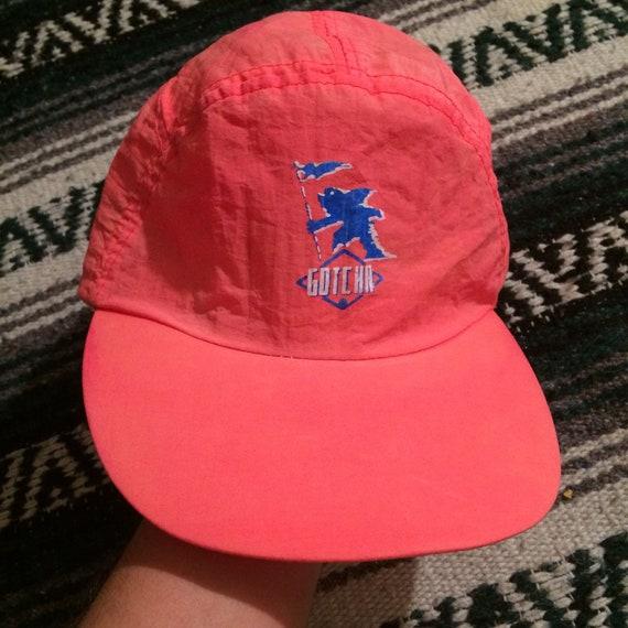 7a1504b90ba Rare Vintage 80s 90s Gotcha Nylon Strapback 5 Panel Hat VTG