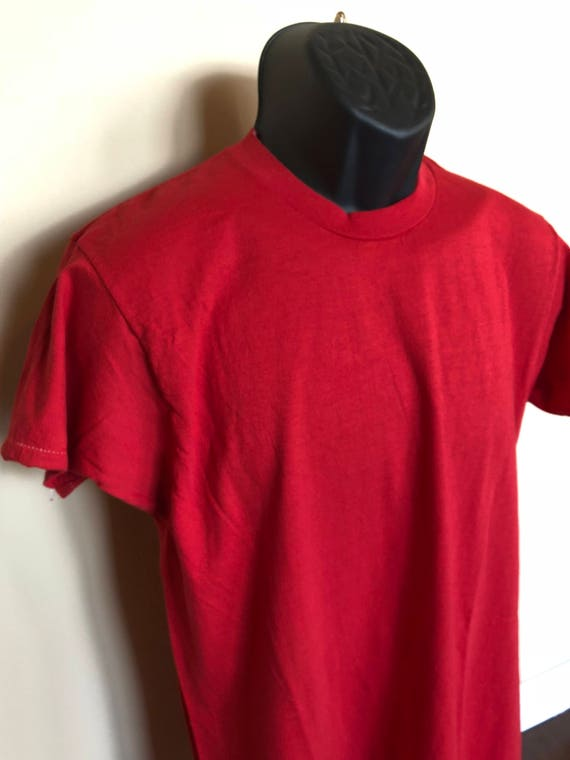 e81c4978 70s Fruit of the Loom Shirt Vintage Tee Loose Long Red Crew   Etsy