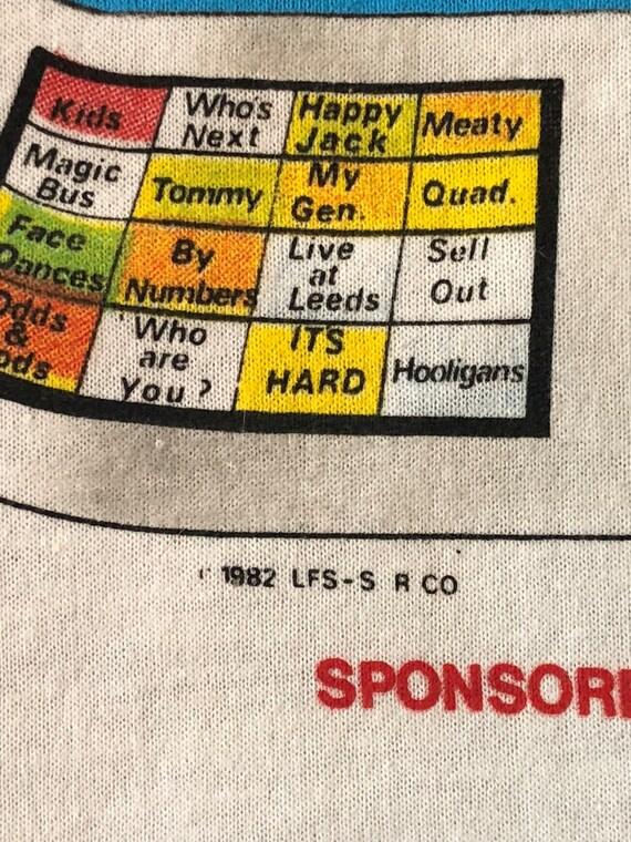 1982 The Who American Tour Shirt Vintage 80s Tee … - image 7