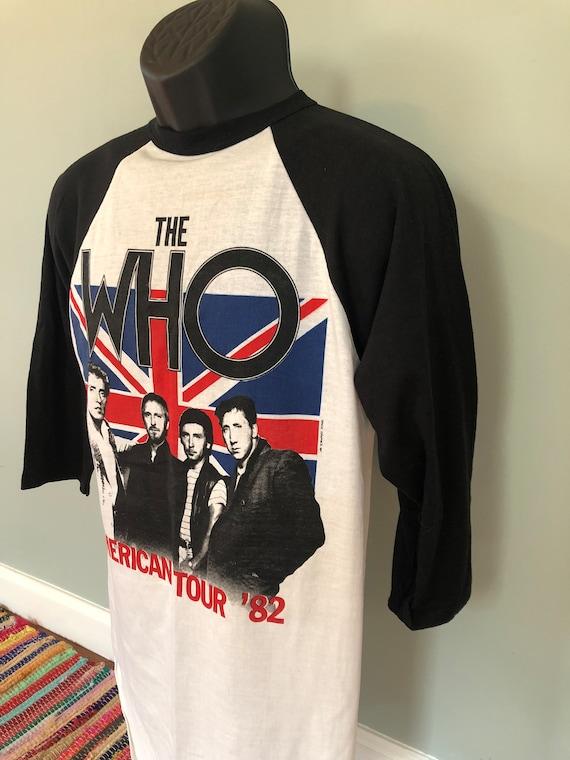 1982 The Who American Tour Shirt Vintage 80s Tee … - image 2