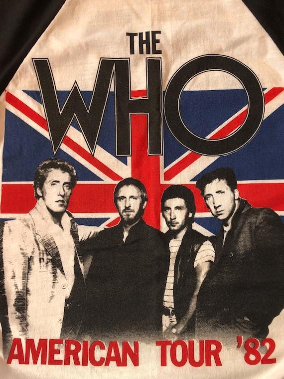 1982 The Who American Tour Shirt Vintage 80s Tee … - image 4