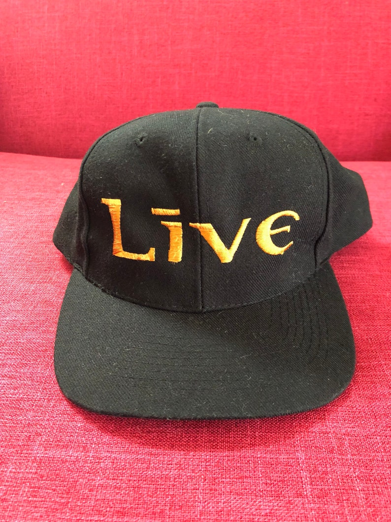 90s Live Band Snapback Hat Vintage Concert Tour Music Alternative Rock Roll Grunge Ed Kowalczyk Throwing Copper 1994 Adjustable Snap Back