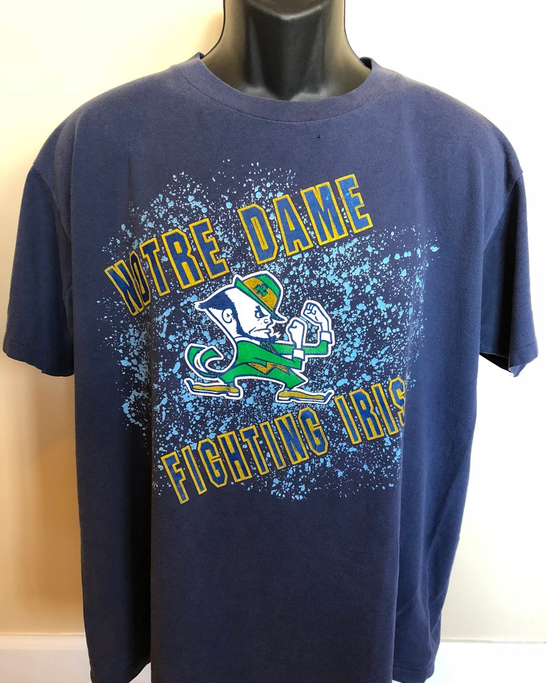 80s Notre Dame Fighting Irish Shirt Vintage Tee Gold Logo Mascot College Football Game Day University Espn Championship Nd NCAA Tailgate XL