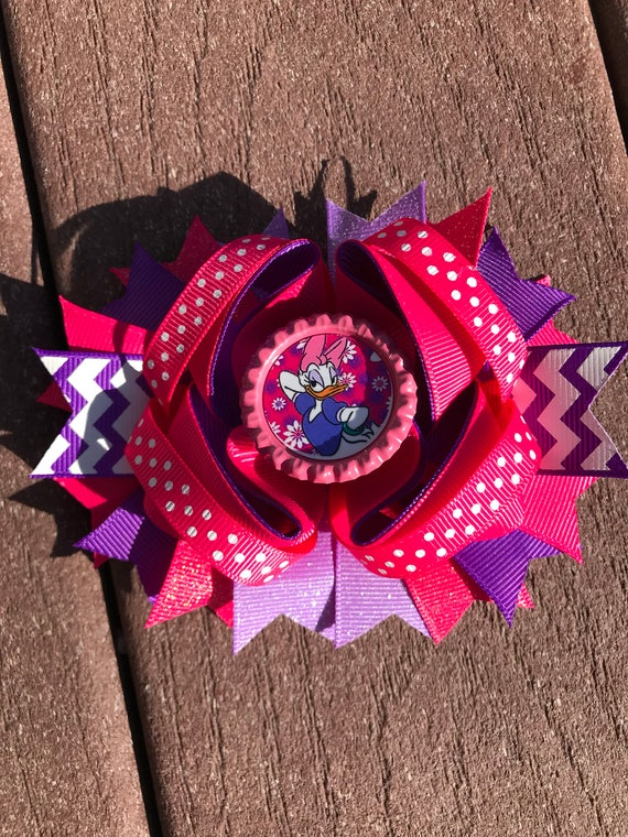 Daisy Duck Bow Birthday Pink And Purple
