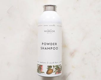 Powder Shampoo, Natural Dry Shampoo, Hair Powder,  Dry Shampoo for dark hair, Cocoa Vanilla Scent, No Poo