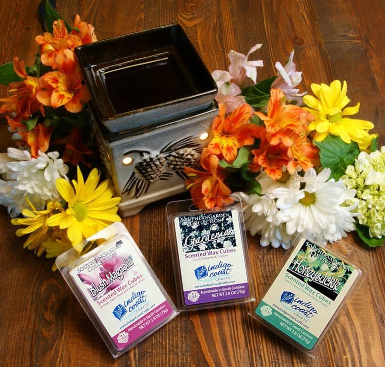 Magnolia Wax Melts  Southern Flowers  Scented Wax Tarts  Wax Warmer Melts  Soy Wax  Home Decor