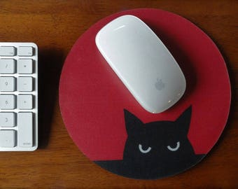 Cat Lover Mouse Pads // Gifts Under 15 // Gifts for Cat Lovers // Custom Mousepads // Fun Desk Accessories