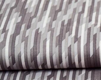 Cotton - patchwork Riley Blake desert bloom - gray desert stripe