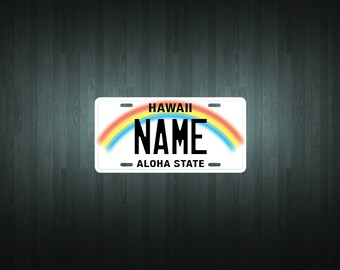Custom Hawaii Style License Plate (choose your text, size, material)