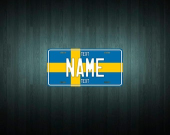 Custom Sweden License Plate (choose your text, size, material)