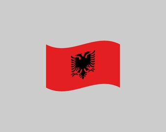 Albania Flag - Download Digital Clipart Silhouette Vector Files