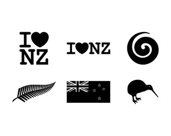 New Zealand - Download Digital Clipart Silhouette Vector Files