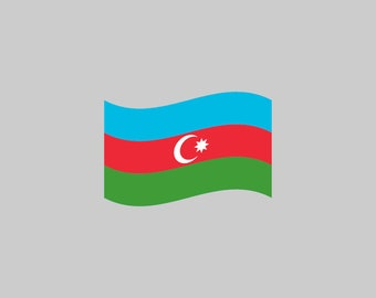 Azerbaijan Flag - Download Digital Clipart Silhouette Vector Files