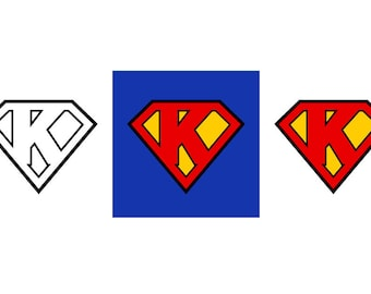 Superman Letter K - Download Digital Clipart Silhouette Vector Files