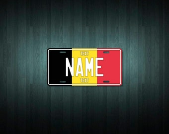 Custom Belgium License Plate (choose your text, size, material)
