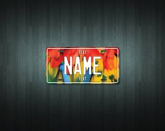 Personalised Feathers License Plate (choose your text, color, size, material)