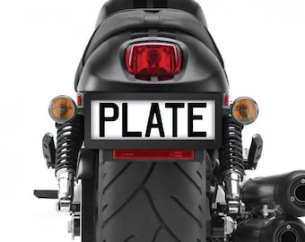 Black Motorcycle Number Plate Surround (single)