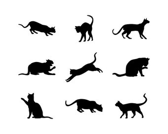 Cat - Download Digital Clipart Silhouette Vector Files