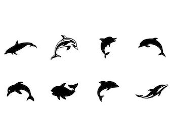 Dolphins - Download Digital Clipart Silhouette Vector Files