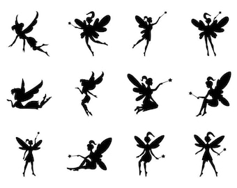 Fairies - Download Digital Clipart Silhouette Vector Files