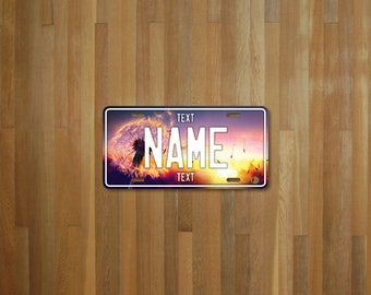 Personalised Dandelion License Plate (choose your text, color, size, material)