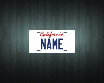 Custom California (new) Style License Plate (choose your text, size, material)
