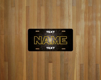 Custom Star Wars style License Plate (choose your text, size, material)
