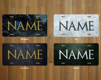Custom Game of Thrones License Plate (choose your text, color, size, material)
