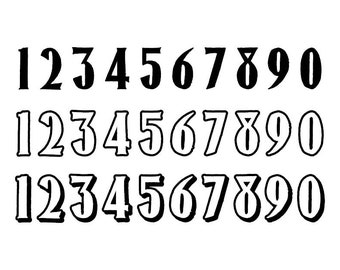 Outlined Numbers #19 - Download Digital Clipart Silhouette Vector Files