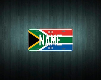 Custom South Africa License Plate (choose your text, size, material)