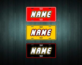 Custom Lego License Plate (choose your text, color, size, material)