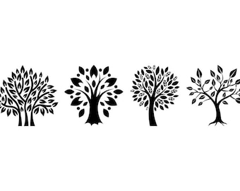 Trees - Download Digital Clipart Silhouette Vector Files