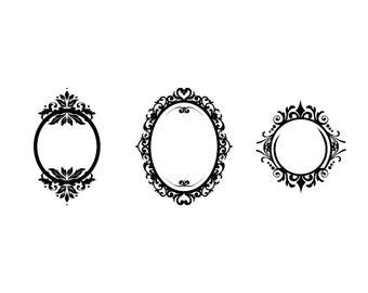 Ornamental Frame - Download Digital Clipart Silhouette Vector Files