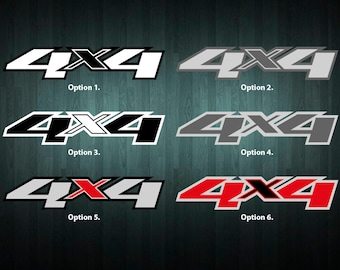 Pair of 4x4 Stickers *reflective* - choose your colour and size