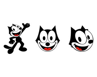 Felix the Cat - Download Digital Clipart Silhouette Vector Files