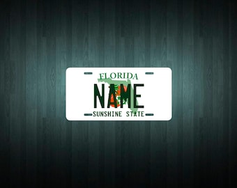 Custom Florida License Plate (choose your text, size, material)