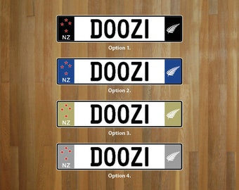 Create your own Euro NZ style number plate