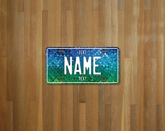 Personalised Colored Tile License Plate (choose your text, color, size, material)