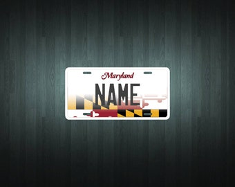 Custom Maryland Style License Plate (choose your text, size, material)